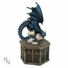 Load image into Gallery viewer, Blue Dragon Trinket Box Secret Stash Ornament Statue Home Decoration Gothic Gift