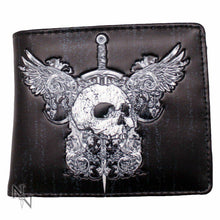 Load image into Gallery viewer, Skull And Wings Mens Wallet 11cm Nemesis Now