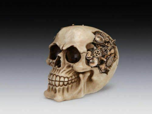 Steampunk Skull Clockwork Cranium Skeleton Myths Ornament Figure