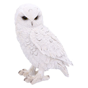 Snowy Owl Sculpture Statue Figure Ornament Gift Idea for Owls Lovers