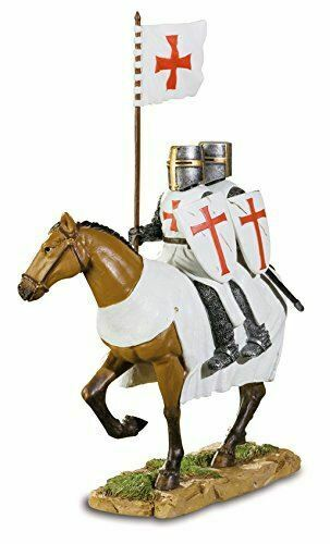 Templar Knights on Horseback With Flag