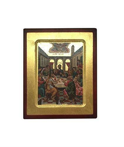 The Last Supper Jesus Christ Hanging Icon Style Religious Wall Plaque Decor