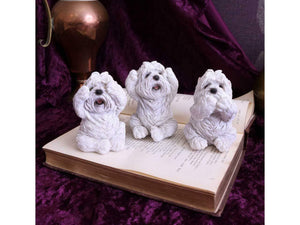 Three Wise Westies Dog Figurines Sculptures Ornaments
