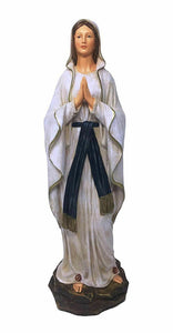 Blessed Virgin Mary Our Lady of Lourdes Statue Religious Ornament Figurine