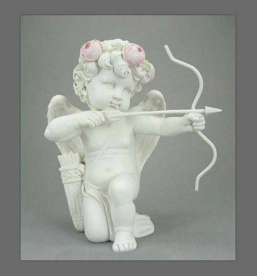 Guardian Angel Figurine Cupid Cherub Statue Ornament Sculpture Gift