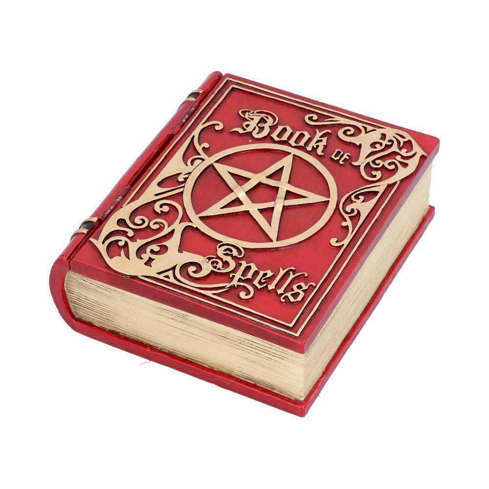 Book of Shadows Box Wiccan Spells Diary Pagan Journal Pentagram Secret Stash Red