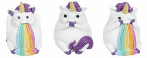 Comical Pukicorns Figures Wise Unicorns Figurines Ornaments Unicorn Lovers