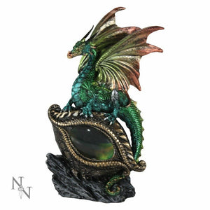 Green Dragon Guardian Statue Sculpture Ornament Figure