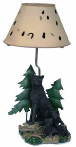 Novelty Black Panther with Cubs Candle Holder 31 cm