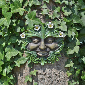 Tree Ent Face Wall Plaque DAISYHEAD Garden Ornament Greenman Wiccan Pagan