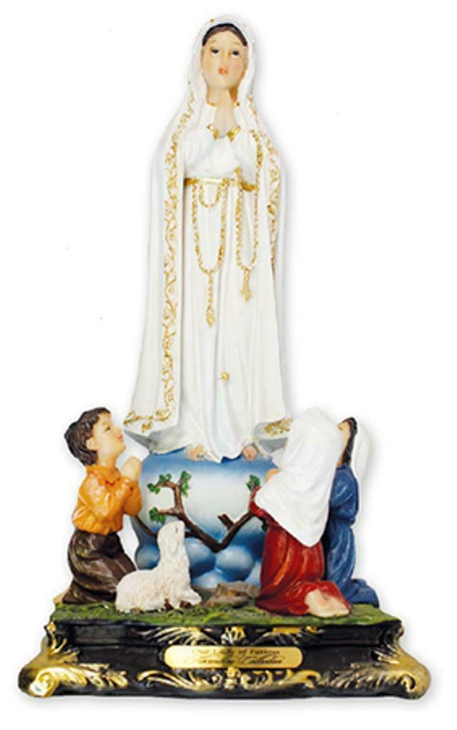Mary Our Lady of Fatima Statue Sculpture Religious Ornament Gift