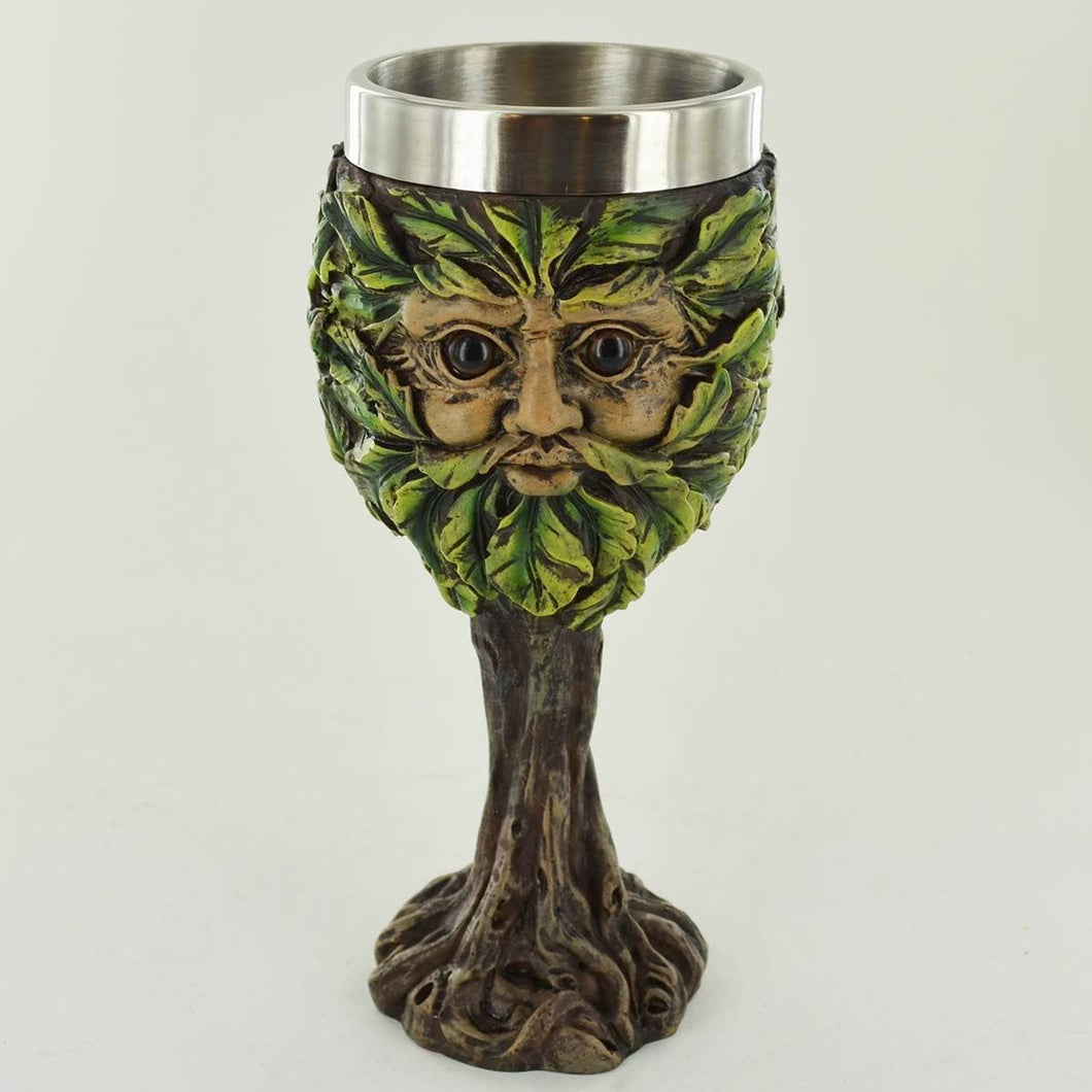Greenman Goblet Chalice Drinking Cup Ornament Wiccan Pagan Gift