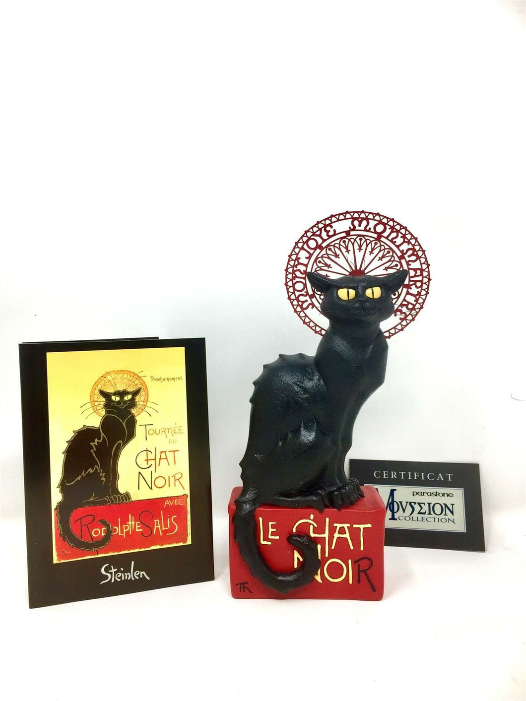 Le Chat Noir Black Cat Statue Steinlen Sculpture Museum Reproduction Inspired