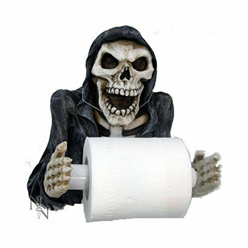 Grim Reaper Toilet Roll Holder Gothic House Decoration Ornament