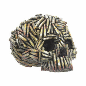 Bullet Skull Gothic Style Ornament Figure Home or Office Decoration