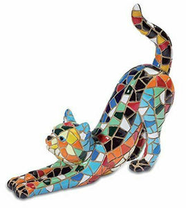 Mosaic Effect Cat Figurine Ornament Cat Lovers Gift