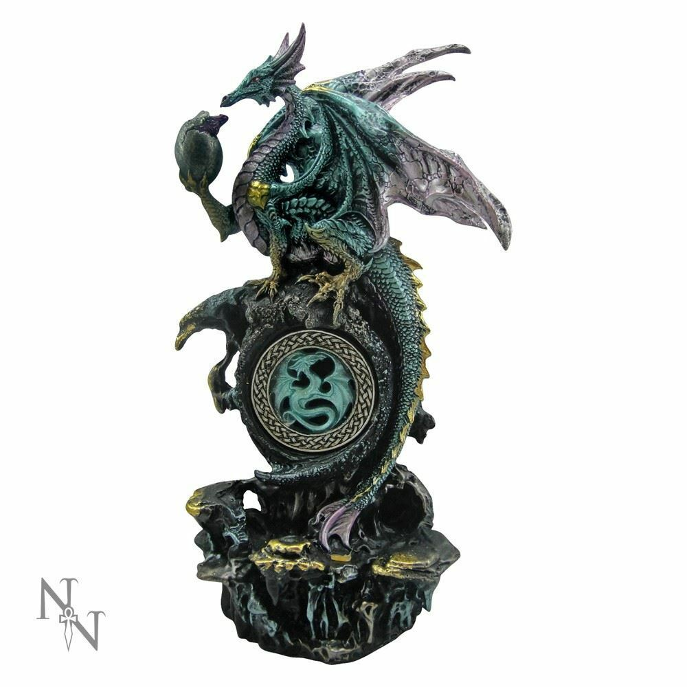 Mother Dragon with Hatchling Fantasy Ornament Gothic Decor Figurine or Gift