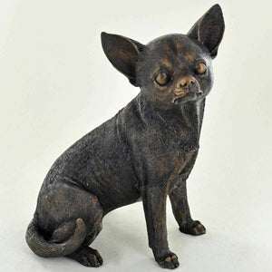 Standing Chiuhuahua Dog Sculpture Figurine Statue Ornament Home Decor