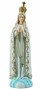 Blessed Virgin Mary Our Lady of Fatima Statue Ornament Figurine for Home Chapel