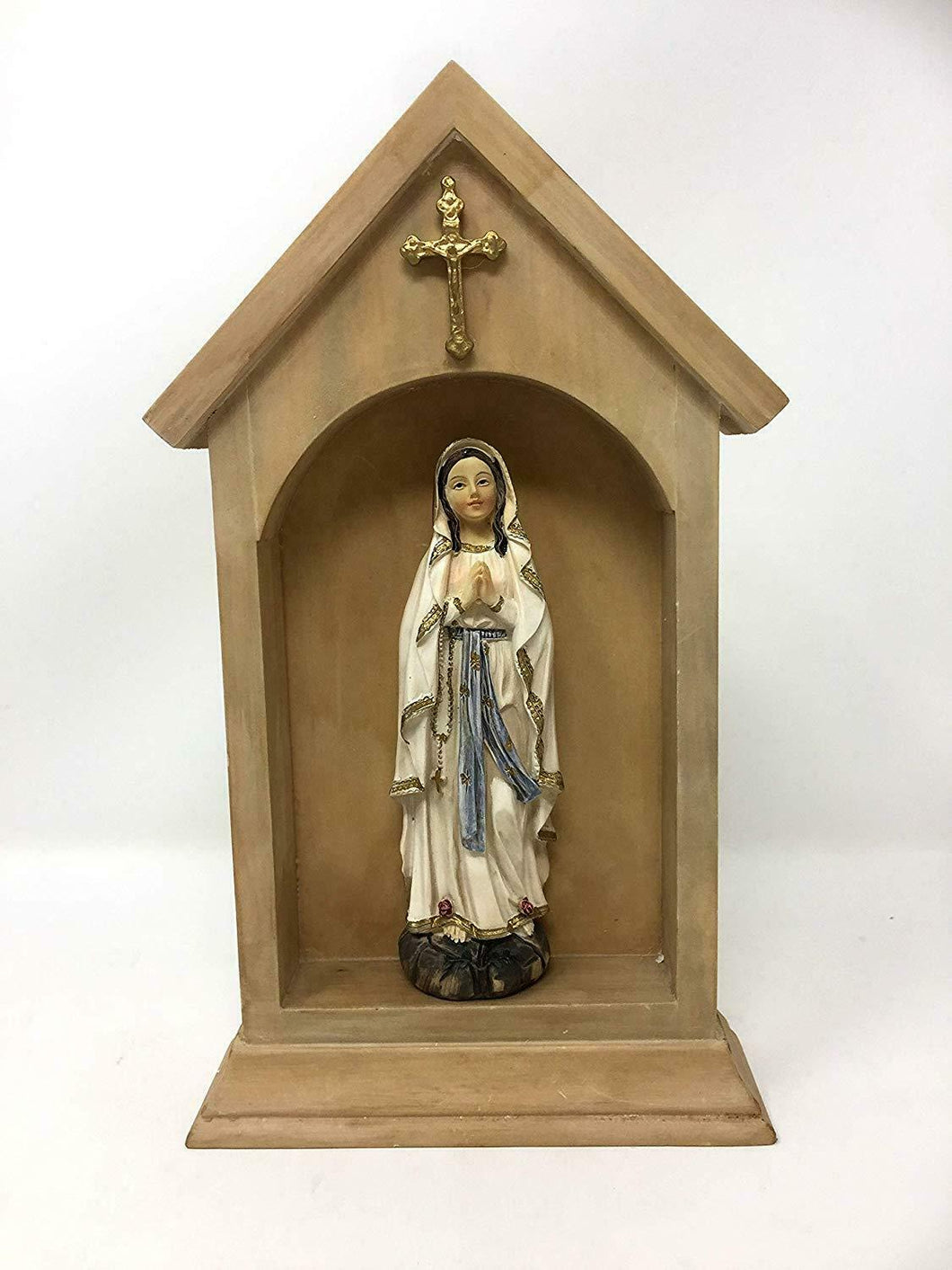 Blessed Virgin Mary Our Lady of Lourdes Statue Ornament Religious Figurine