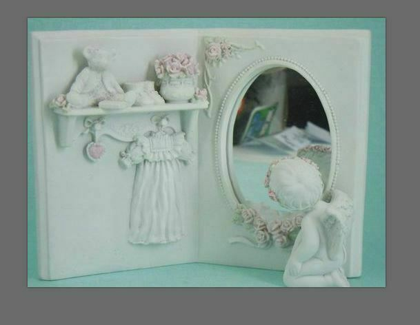 Guardian Angel Figurine Cherub Mirror  Statue Ornament Sculpture Gift