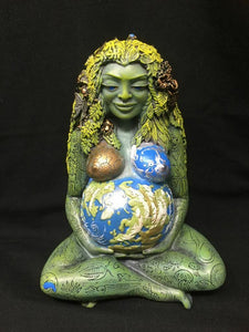 Mother Earth Gaia Statue Mother Earth Pagan Sculpture Goddess Altar Ornament