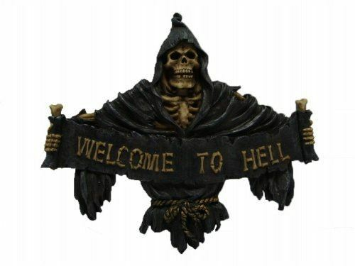 Grim Reaper Door Plaque By Nemesis Now Great Gothic Gift Idea or Home Decor