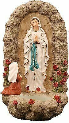 Lourdes Holy Water Font St Bernadette Vision of Our Lady of Lourdes Ornament