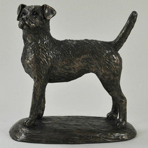Border Terrier Bronzed Figurine Dogs Gifts Statue Sculpture Ornament