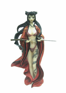 Female Assassin with Dragon Tattoo Manga Figurine Statue Ornament