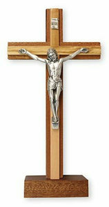 Free Standing Wood Crucifix Wall Cross Olive Wood Religious Gift