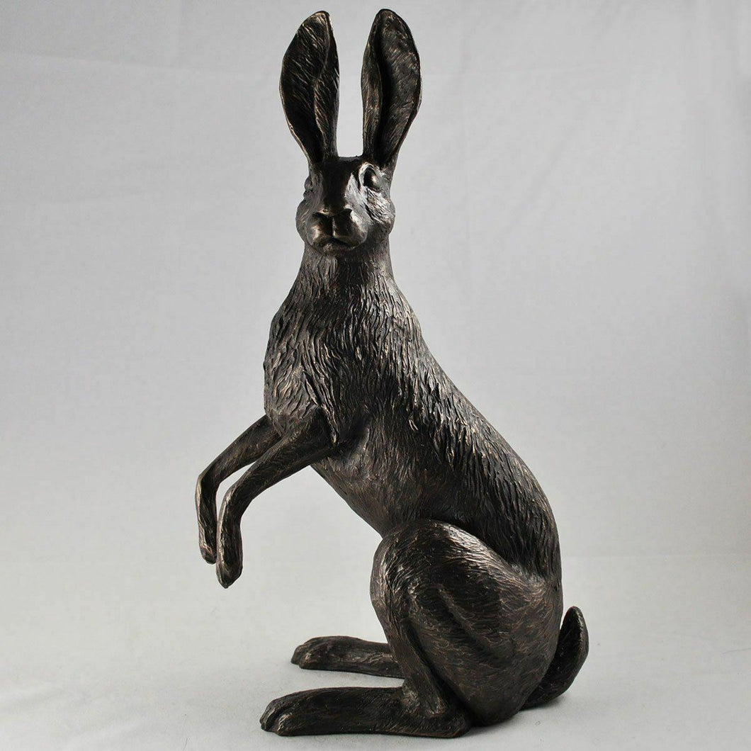 Bronze Hare Sculpture Animal Statue Figure Rabbits Gifts Figurines Ornaments