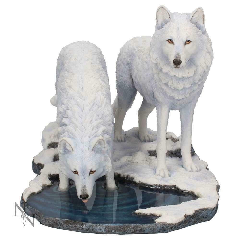 Winter Wolves Statue Wolf Sculpture Art Ornament Collectable Gift