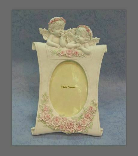 Guardian Angel Figurine Cherub Photo Frame Statue Ornament Sculpture Gift