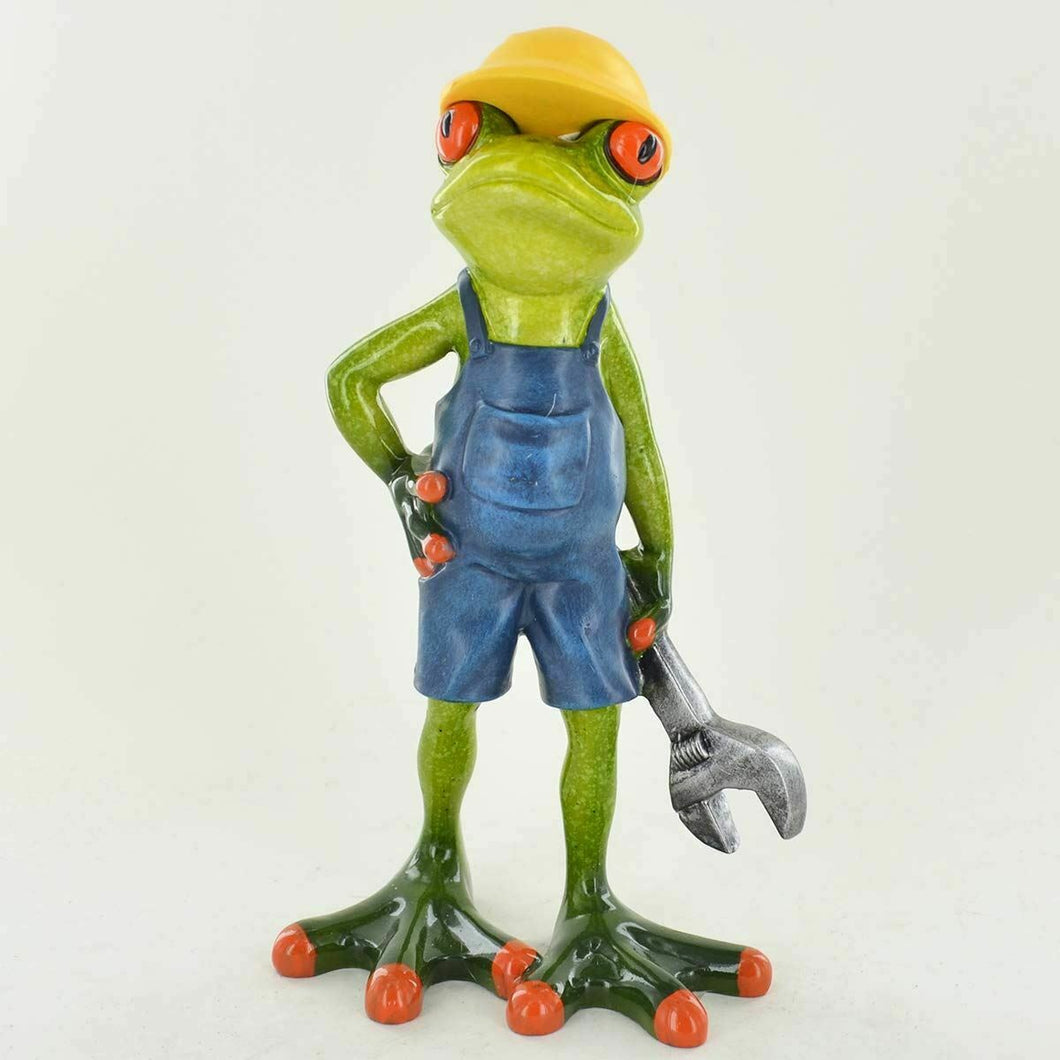Comical Mechanic Frog Figurine Ornament Frogs Lovers Ideal Gift