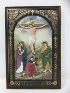 The Crucifixion of Christ Crucifix Hanging Wall Plaque Cross Religious Ornament