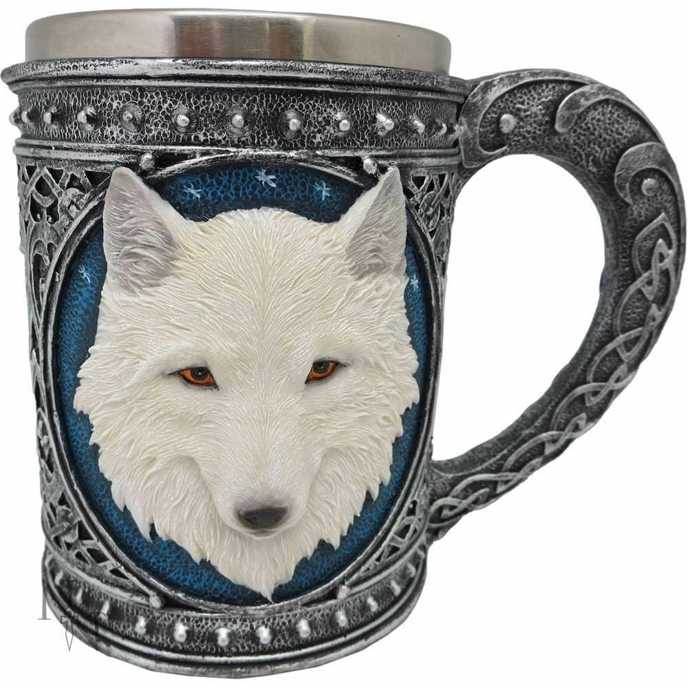 Novelty Ghost Wolf Tankard Large Gothic Decor