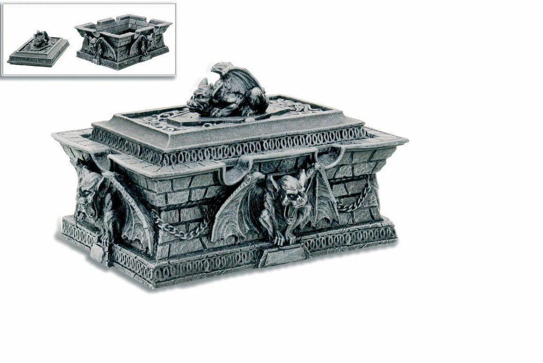 Stone Effect Gargoyle Trinket Box Gothic Decor Home Ornament