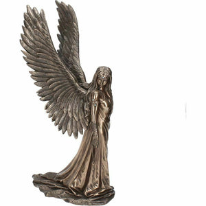 Bronze Effect Large Angel Sculpture Statue Spirit Guide Limited Edition 43cm