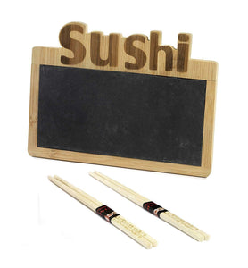 Sushi Set Tray in with Bamboo Chopsticks Gift Box