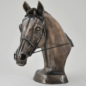 Bronze Horse Head Sculpture Statue Horses Gifts Bust Figure Ornament