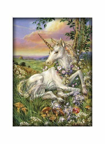 Newborn Unicorn - A4 Art Print Mounted on White A3 Card