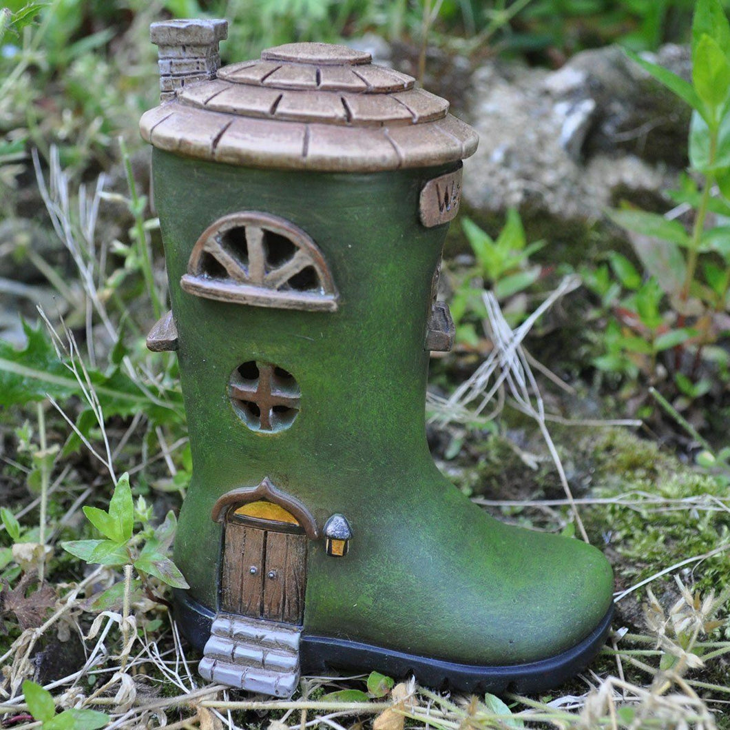 Wellington Boot House Mystical Garden Indoor Elf Pixie Home