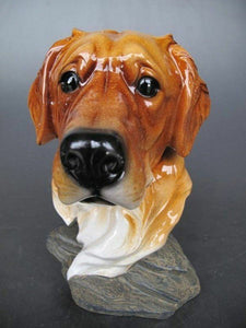 Comical Sculpture Dog Head Statue Great Dog Owners Gift Idea