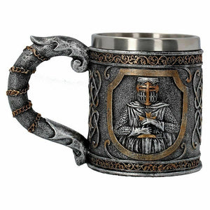 Templar Knight Medieval Style Goblet Chalice Glass