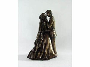 Bronze Effect Lovers Statue Sculpture Wedding Gift Sculpture Ornament