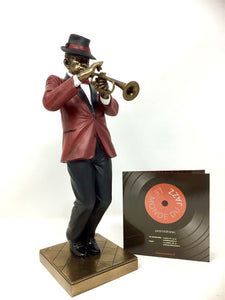 Jazz Music Sculpture Trumpet Player Statue Ornament Music Collection