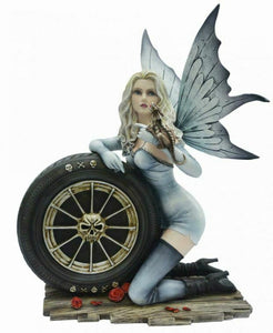 Large Dark Gothic Fairy and Dragon Companion Sculpture Statue Figure Home Gift