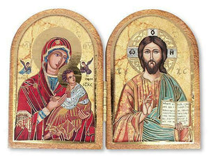 Jesus and Our Lady of Perpetual Help Folding Plaque Diptych Religious Gift