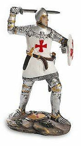 Templar Knight Armed with Shield and Sword